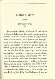 Capitulo sesto, Baeza (1864), Historia Fuencisla