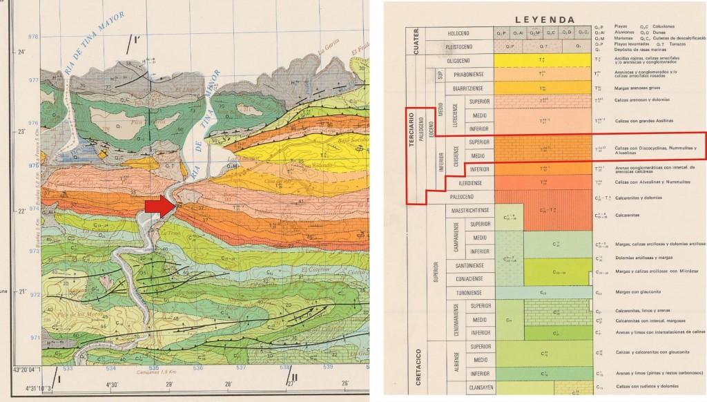 Mapa geologico y leyenda