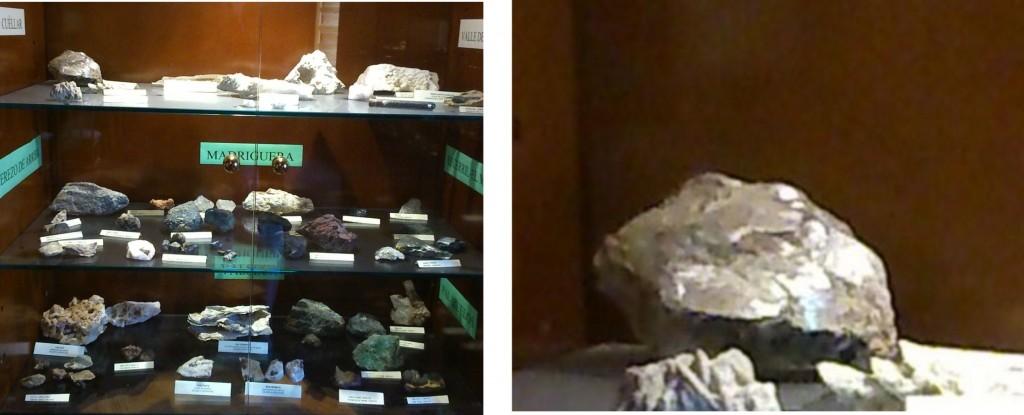 Vitrina museo Valseca y mica Aldehorno