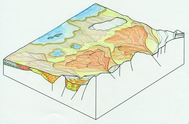Abanicos aluviales del cenozoico