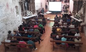 Geolodía Segovia 16, Charla en la iglesia