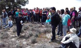 Geolodía Segovia 16, Grupo en la cresta de la duna