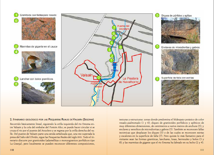 Guia Piedras Guadarrama, paginas 110 y 111