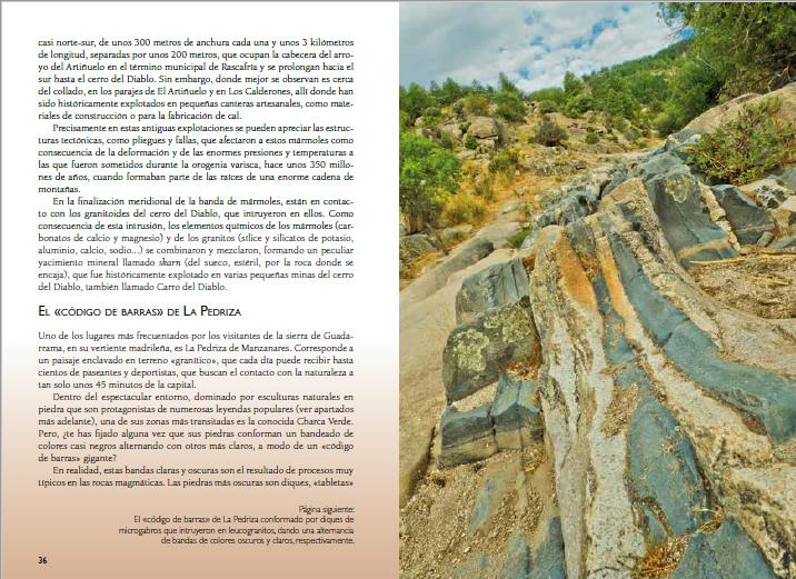 Guia Piedras Guadarrama, paginas 36 y 37