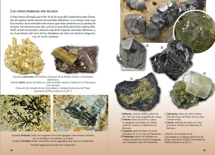 Guia Piedras Guadarrama, paginas 44 y 45