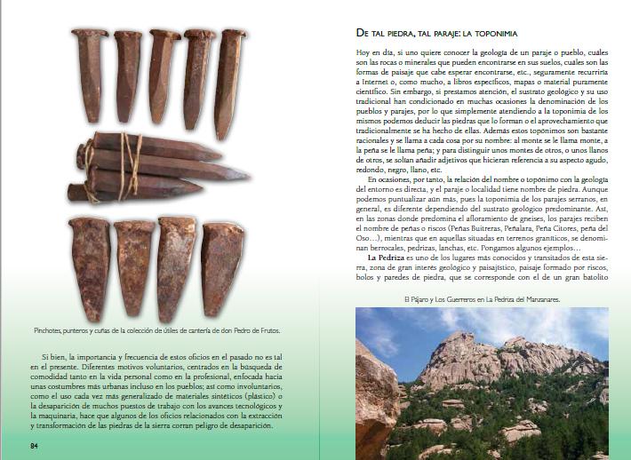 Guia Piedras Guadarrama, paginas 84 y 85