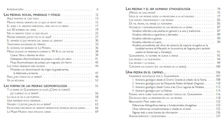 Indice Piedras Guadarrama