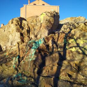 Nuevos actos de vandalismo contra el patrimonio geológico segoviano